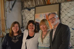 L to r: Karen Templeton, Danielle Dubrasky, Nancy Takacs, David Pace