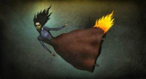 mahurin325 dress aflame